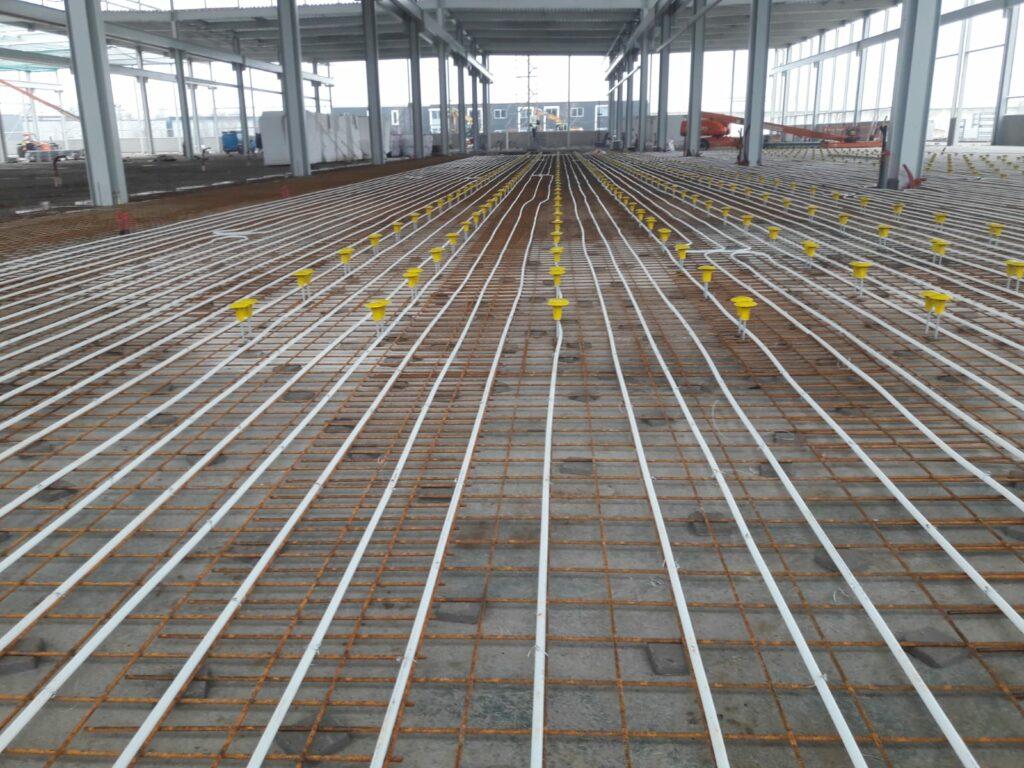 Nieuwbouw complex AWL te Harderwijk vloerverwarming